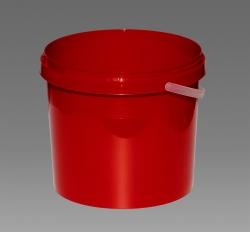 Plastové kbelíky s víkem 5,7l - v barvách dle přání zákazníka